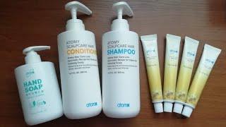 Посылка от компании Atomy|Уходовые средства|Корейская продукция|Шампунь, зубная паста, жидкое мыло.