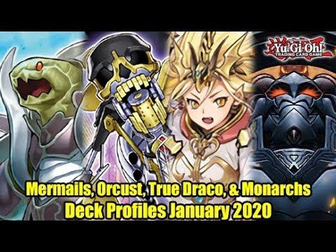Mermails, Orcust, True Draco, & Monarchs - Yu-Gi-Oh! Deck Profiles January 2020