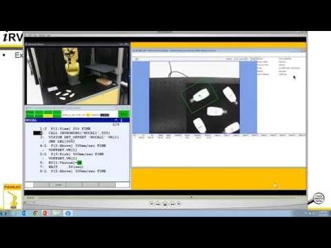 how to setup fanuc irvision no cal version youtube rh youtube com Fanuc iRVision User Manual iRVision Fanuc Training