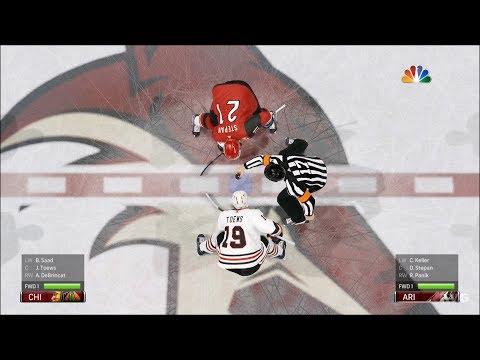 NHL 19 - Arizona Coyotes vs Chicago Blackhawks - Gameplay (HD) [1080p60FPS]