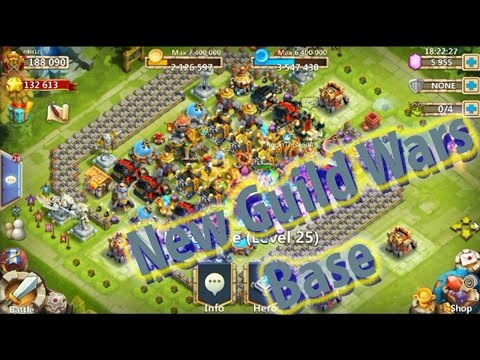 New Guild Wars Base!!!  -CASTLE CLASH