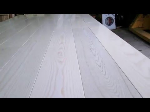 Массивная доска Ясень Белый MERCIER выбеленный