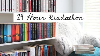 24 Hour Readathon Vlog | I read 5 books in one day!