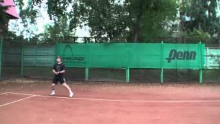 Теннис. Передвижения по площадке и работа ног. Часть 4 - работа ног после удара.