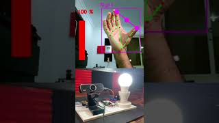 Lamp Control using Hand Gestures   Computer Vision with Arduino   CVZone