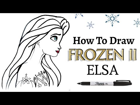 ELSA LOOKING SIDEWAYS ~ How To Draw | Step-by-step Tutorial on Drawing Disney Frozen 2 Character