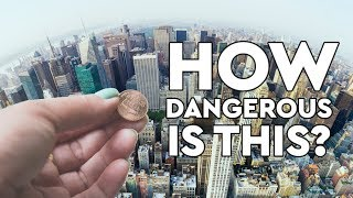 What Happens When You Drop A Penny Off The Empire State Building?  DEBUNKED thumbnail