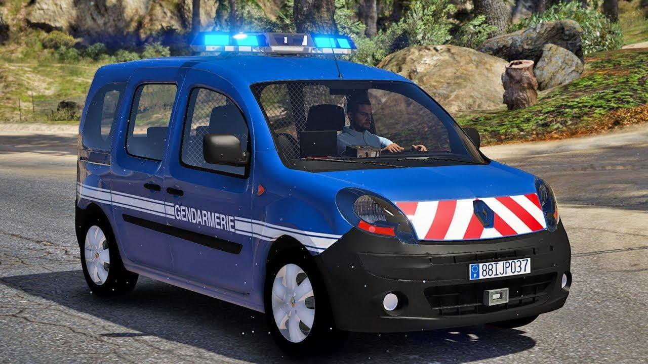 gendarmerie nationale  6 - patrouille en renault kangoo 2 - lspdfr gta 5 mods