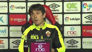 Rueda de prensa de Pacheta tras el RCD Mallorca vs Elche CF (1-1)