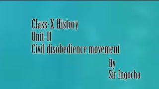 Class-X History Unit-II Civi disobedience movement