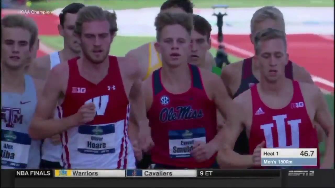 e5455631c2 2018 NCAA Track Championships Men s 1500m Prelims Heat 1 - YouTube