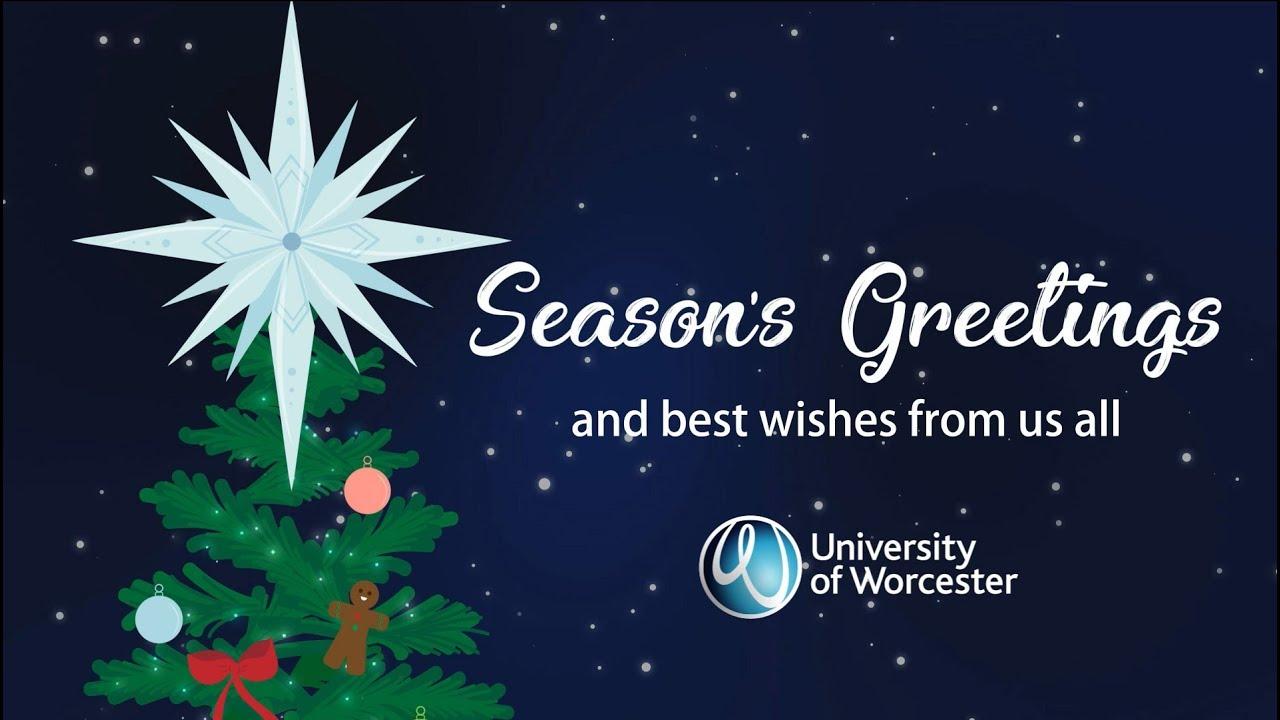 Seasons Greetings 2017 University Of Worcester Youtube