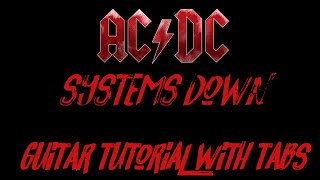 AC/DC - Systems Down - Guitar Tutorial