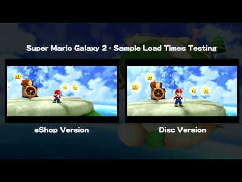 Super mario galaxy 2 wii u eshop vs disc sample load times youtube