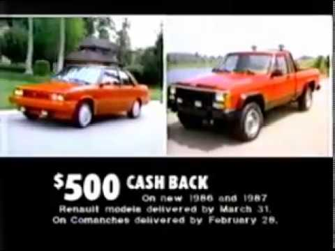AMC Jeep Renault commercial - California dealer - 1987