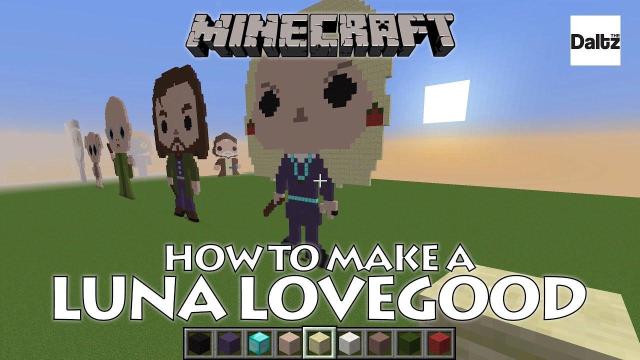 Minecraft Pixel Art Luna Lovegood Harry Potter