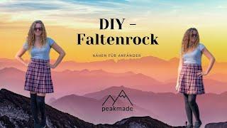 DIY - Faltenrock ohne Schnittmuster nähen
