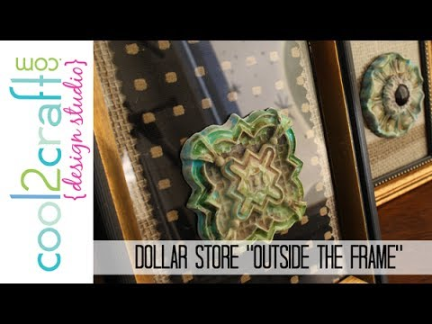 DIY: Easy Home Dec Wall Art with Dollar Store Frames - YouTube