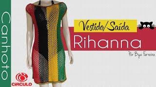 Vestido / Saída de praia Rihanna P - M _ G _ GG | BYA FERREIRA