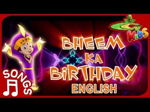 Chhota Bheem - Birthday Special Song in English