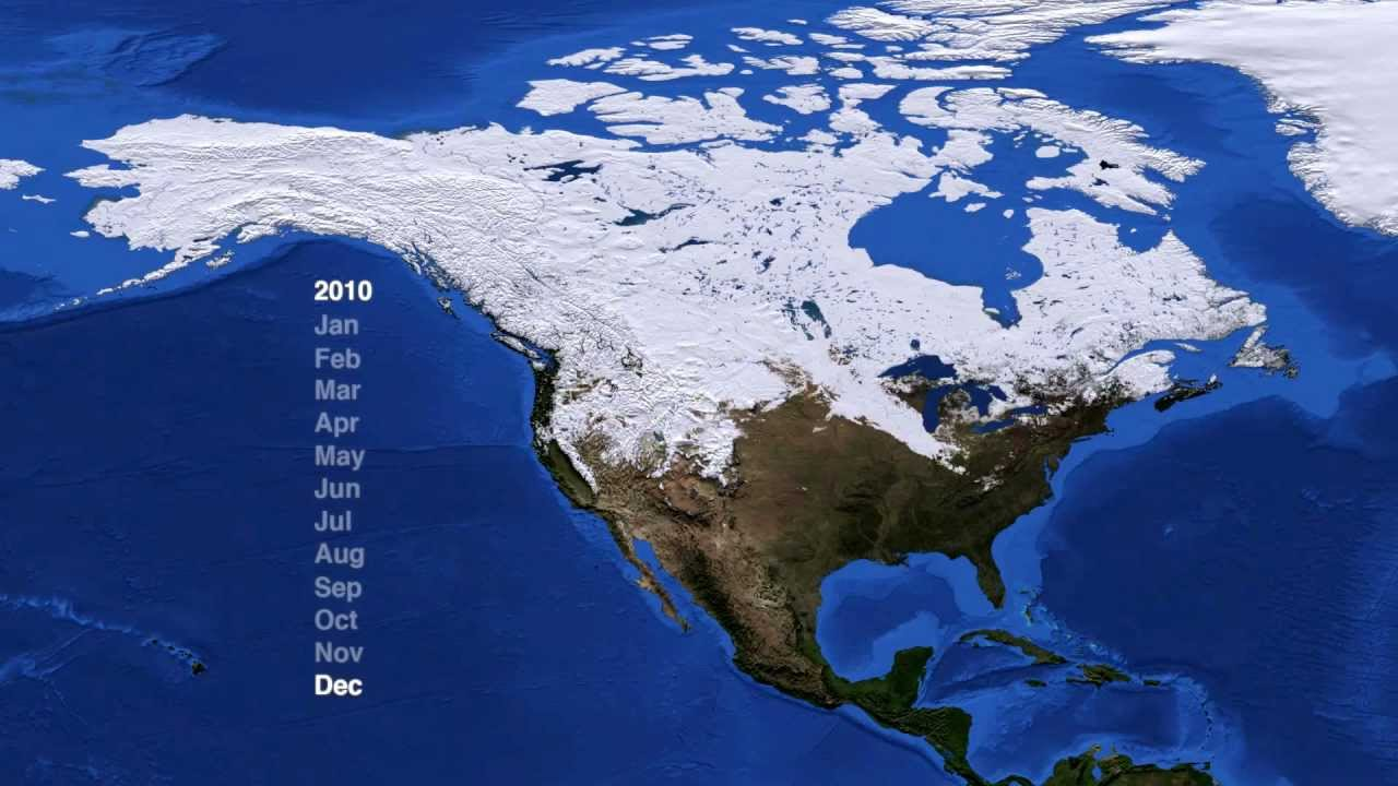 High Quality North America Snow Cover (2009 2012) [1080p] [3D Converted]