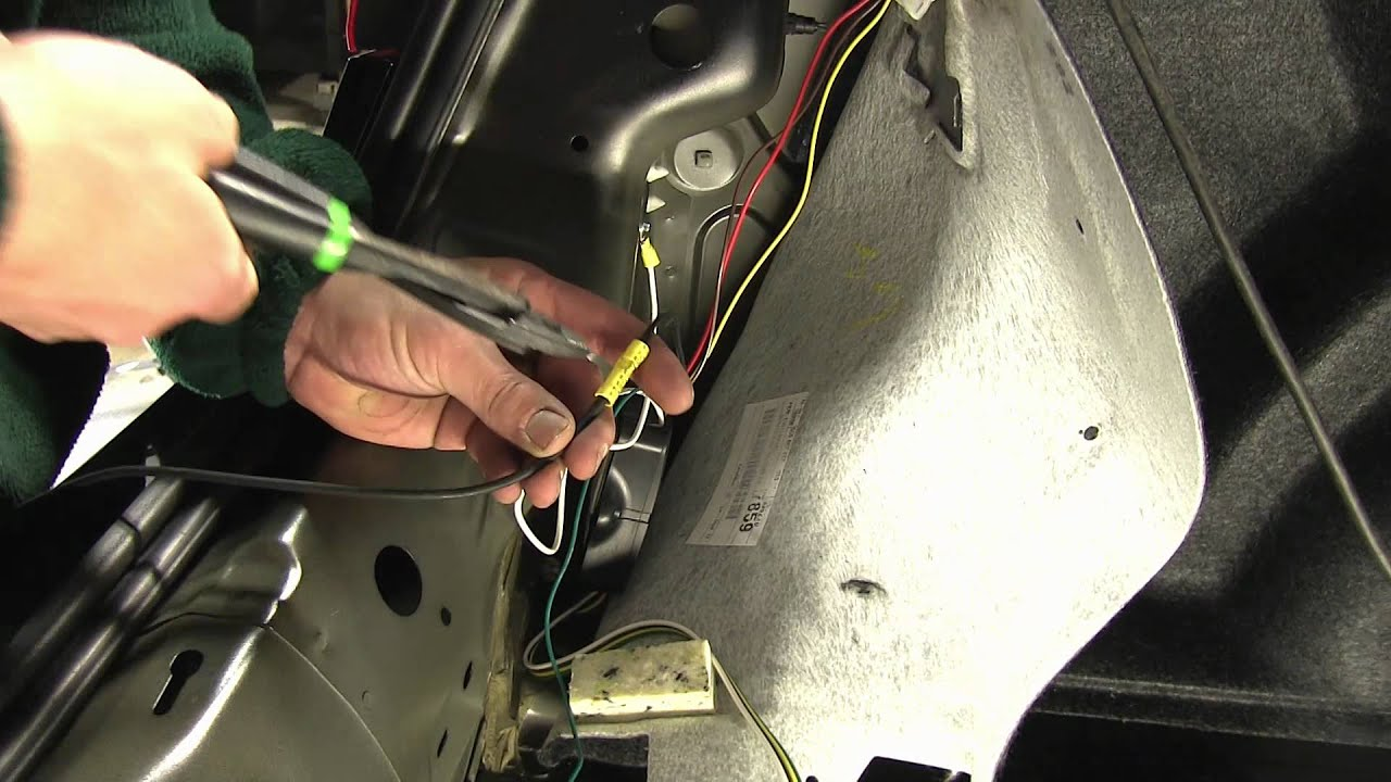 installation of a trailer wiring harness on 2012