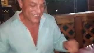 Osvaldo Rios festejando su cumpleaños