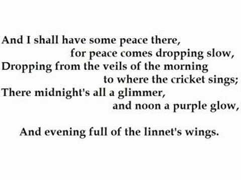 """The Lake Isle of Innisfree "" by W.B. Yeats (read by Tom O'Bedlam)"