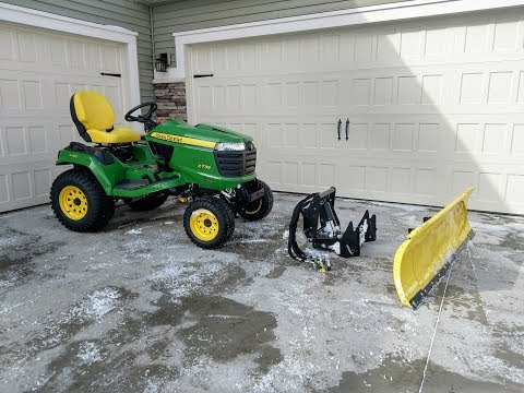 """How To Install A John Deere 54"""" Snow Plow & Quick Hitch"""