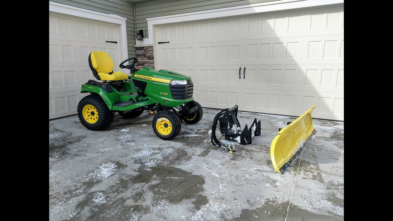 How To Install A John Deere 54 Quot Snow Plow Amp Quick Hitch