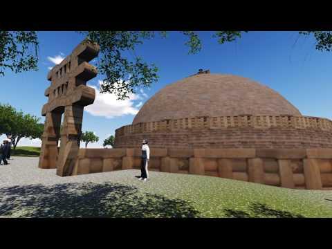 Sanchi Stupa Architecture - 360° view walkthrough (Buddhist Architecture)