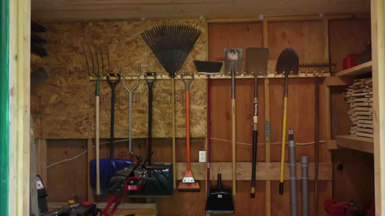 Build A Pair Of Garden Tool Racks Youtube