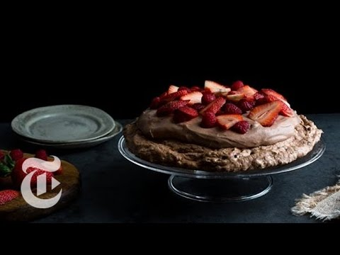 Chocolate Pavlova With Chocolate Mousse   Melissa Clark Recipes   The New York Times