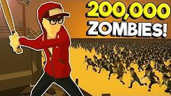 200,000 Zombies Swarm Military Base! - SwarmZ Zombie Survival Game