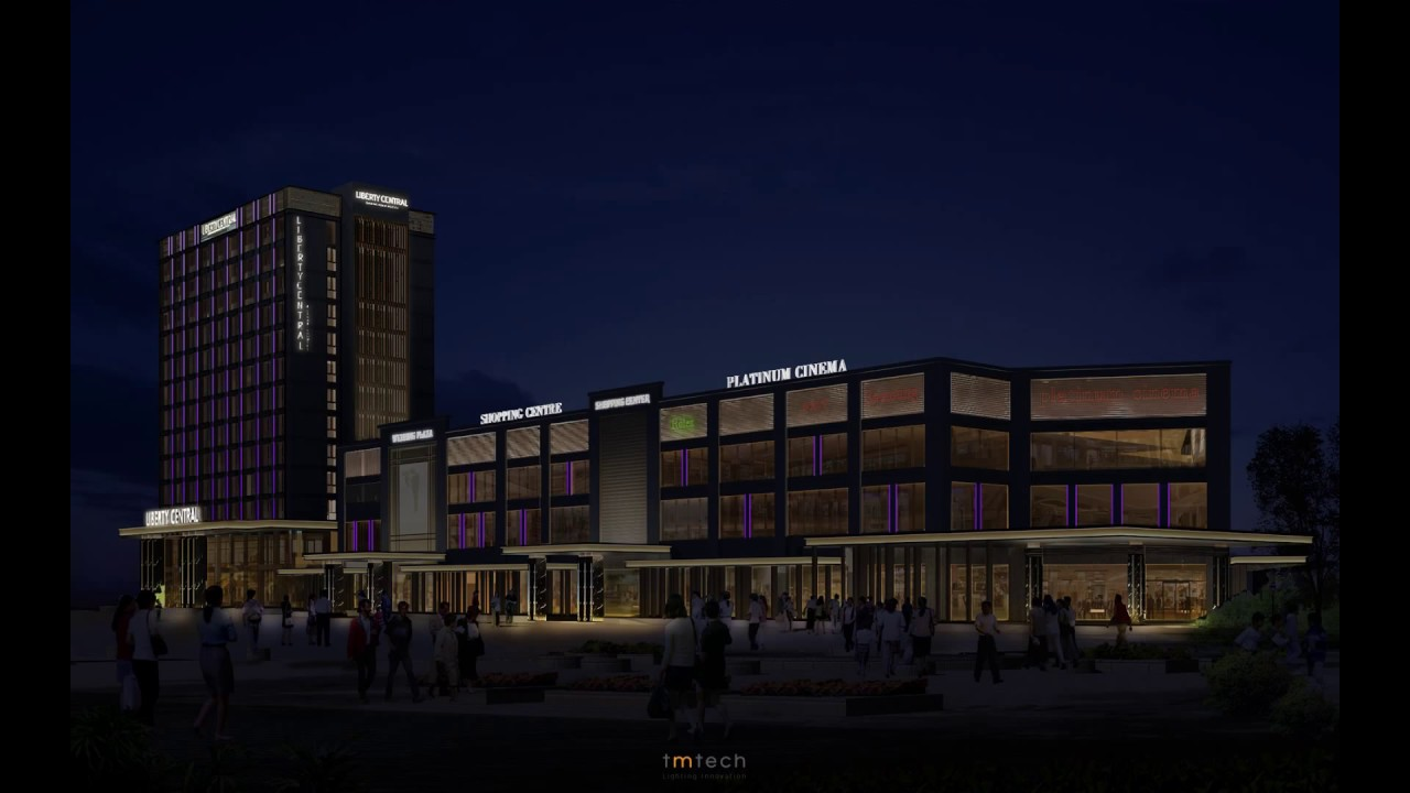 Led lighting lighting design project goden dragon plaza concept