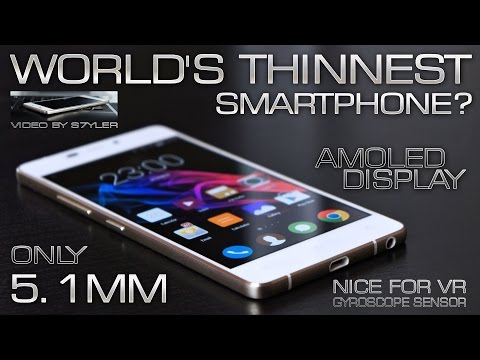 World's Thinnest Phone for only $85 (Quick Review) SuperAMOLED, Gyroscope, Youtube60fps // by s7yler