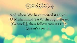 Surat Al-Qiyāmah (The Resurrection) - سورة القيامة Recited By Salah Bukhatir