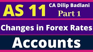 AS 11: The effect of changes in Foreign Exchange Rates: Accounts: Accounting Standard 11: Part 1