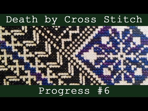 Flosstube | DEATH BY CROSS STITCH #6 | Cross Stitch Time Lapse | Monogamous Maynia