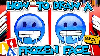 How To Draw The Frozen Face Emoji