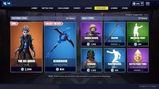 NEW* The Ice Queen Skin ! Fortnite Item Shop January 20, 2019