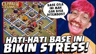 ⚠️HATI-HATI! Base SUSAH Ini BISA BIKIN CLASHER GILA! #4 - CoC Indo