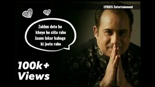 Zakhm dete ho - LYRICS | Lal ishq lyrics full song | Rahat Fateh ali khan | Trending song | #Newsong