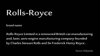 How to pronounce - Rolls Royce