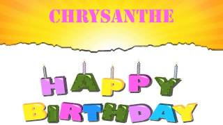 Chrysanthe   Wishes & Mensajes - Happy Birthday