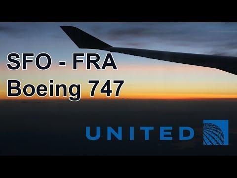 United Airlines Boeing 747 flight San Francisco - Frankfurt trip report