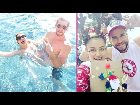 Miley Cyrus and Liam Hemsworth Lovely Moments : 2017
