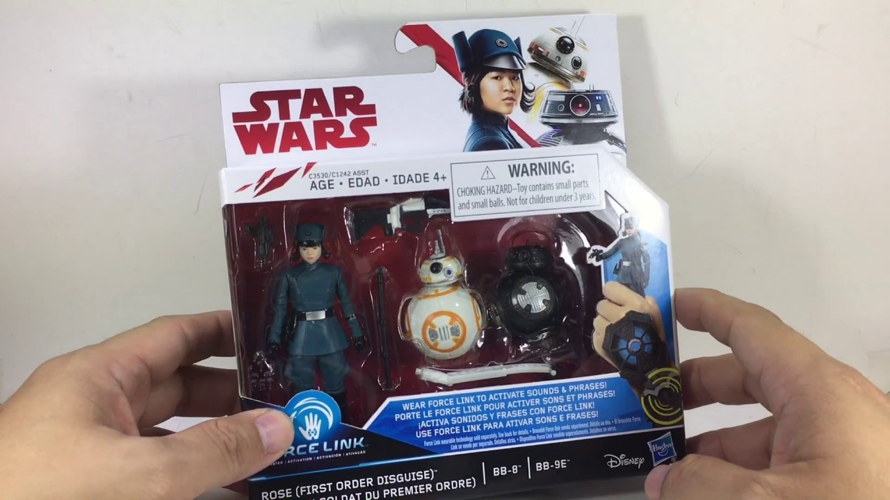 Star Wars Force Link Rose First Order Disguise BB-8 BB-9E Pack