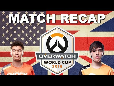 USA vs United Kingdom Overwatch World Cup 2018 Match Recap thumbnail