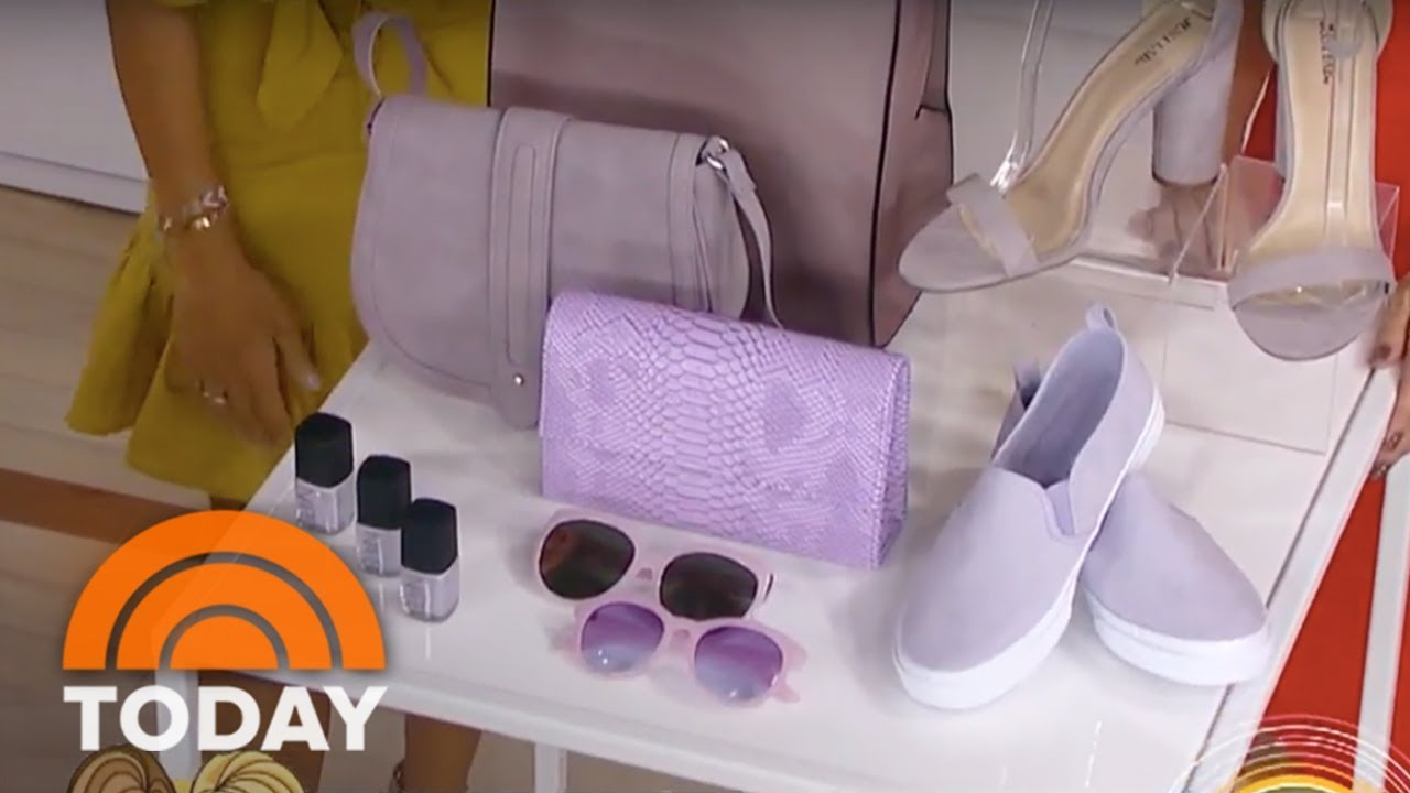 lilac is the color of the season and here are great ways to wear it